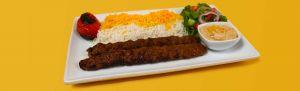 Beef Koobideh Kabab Plate. Kebab Bar. Los Angeles