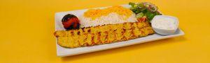 Chicken Koobideh Kabab Plate. Kebab Bar. Los Angeles