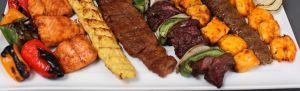 Mixed Plate of Kebabs. Kebab Bar. Los Angeles