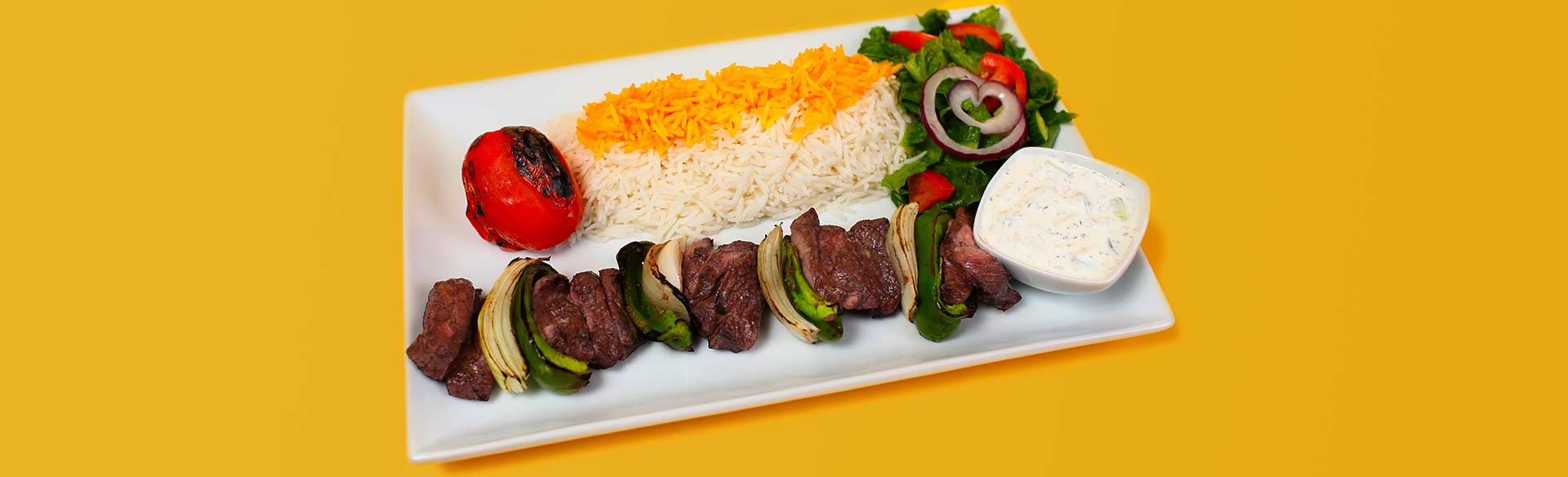 Shish Kebab Plate. Kebab Bar. Los Angeles