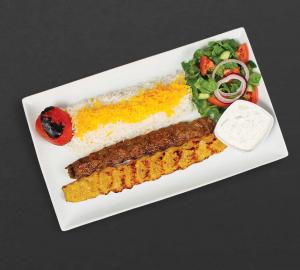 Combo koobideh plate from Kebab Bar LA