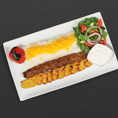 Combo koobideh plate from Kebab Bar LA
